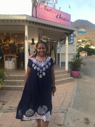Outside of a boutique in St. Maarten, late July 2019