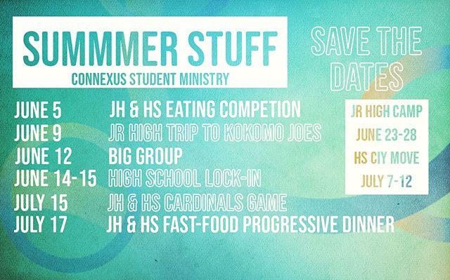 Summer calendar!
