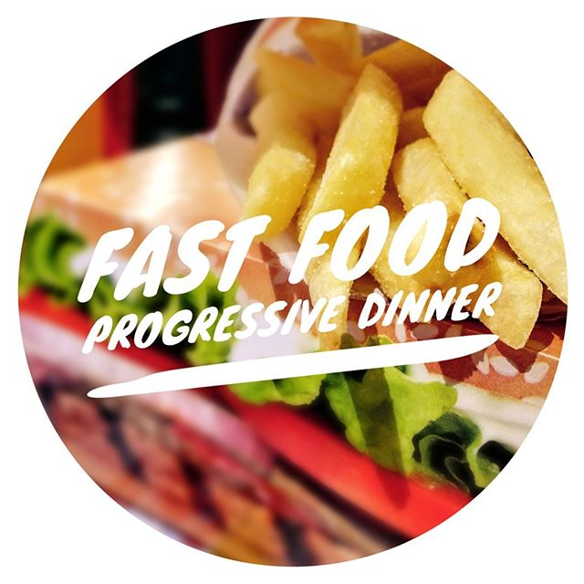 Fast food progressive Dinner tonight! Bring money for food. See you at 6:30.