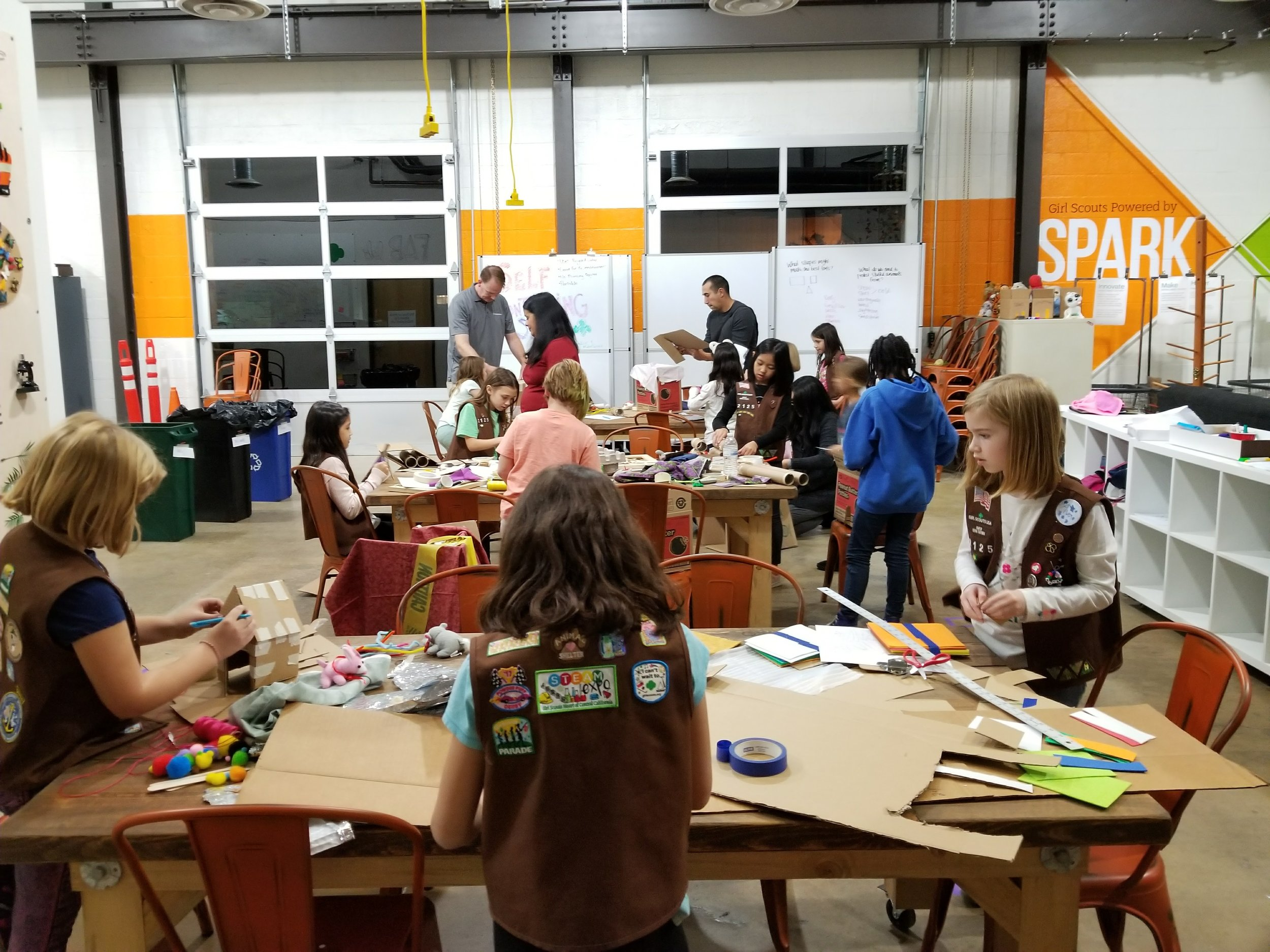 Organized chaos at Design-A-Fort