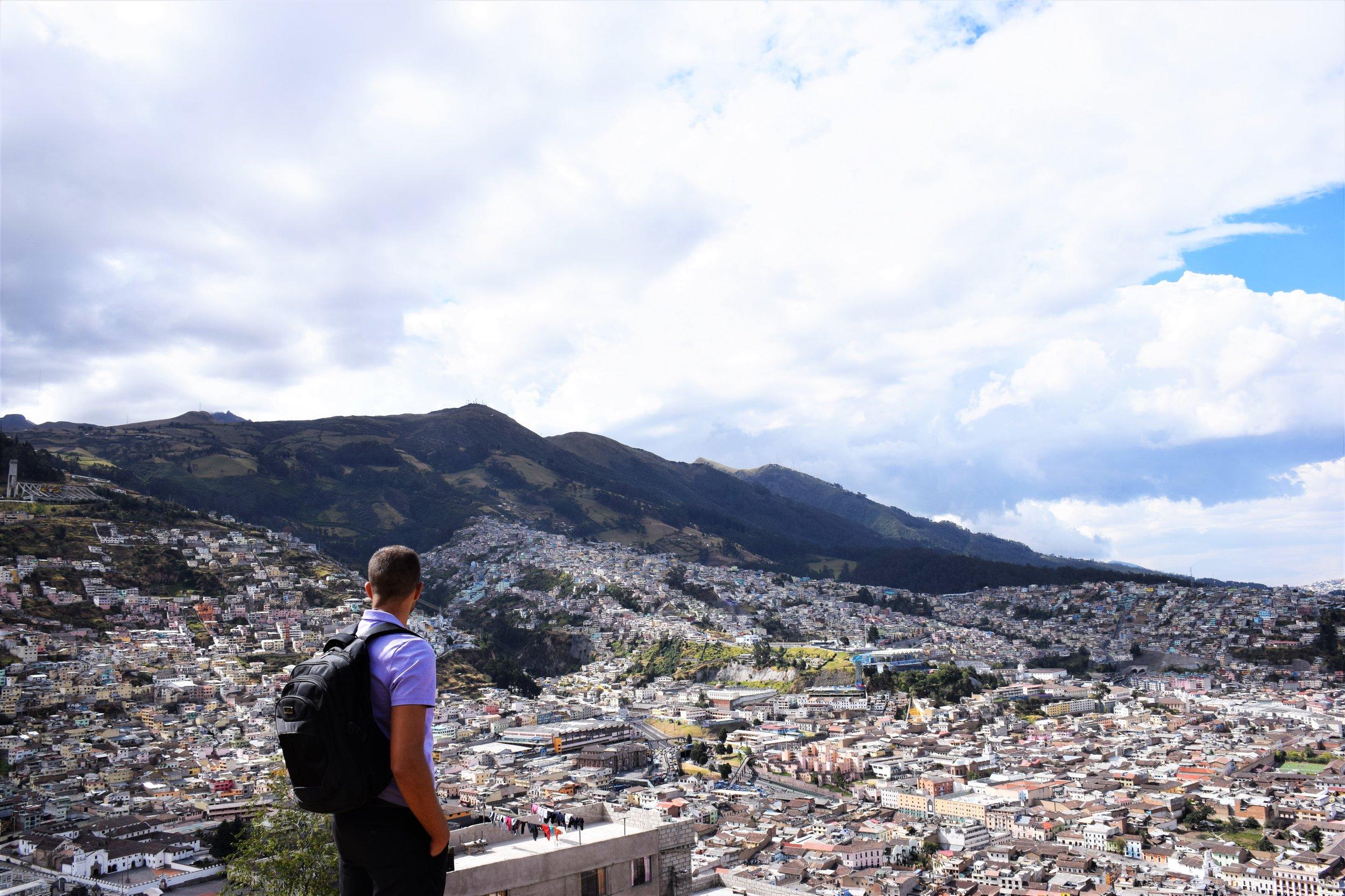View from Virgen del Panecillo -