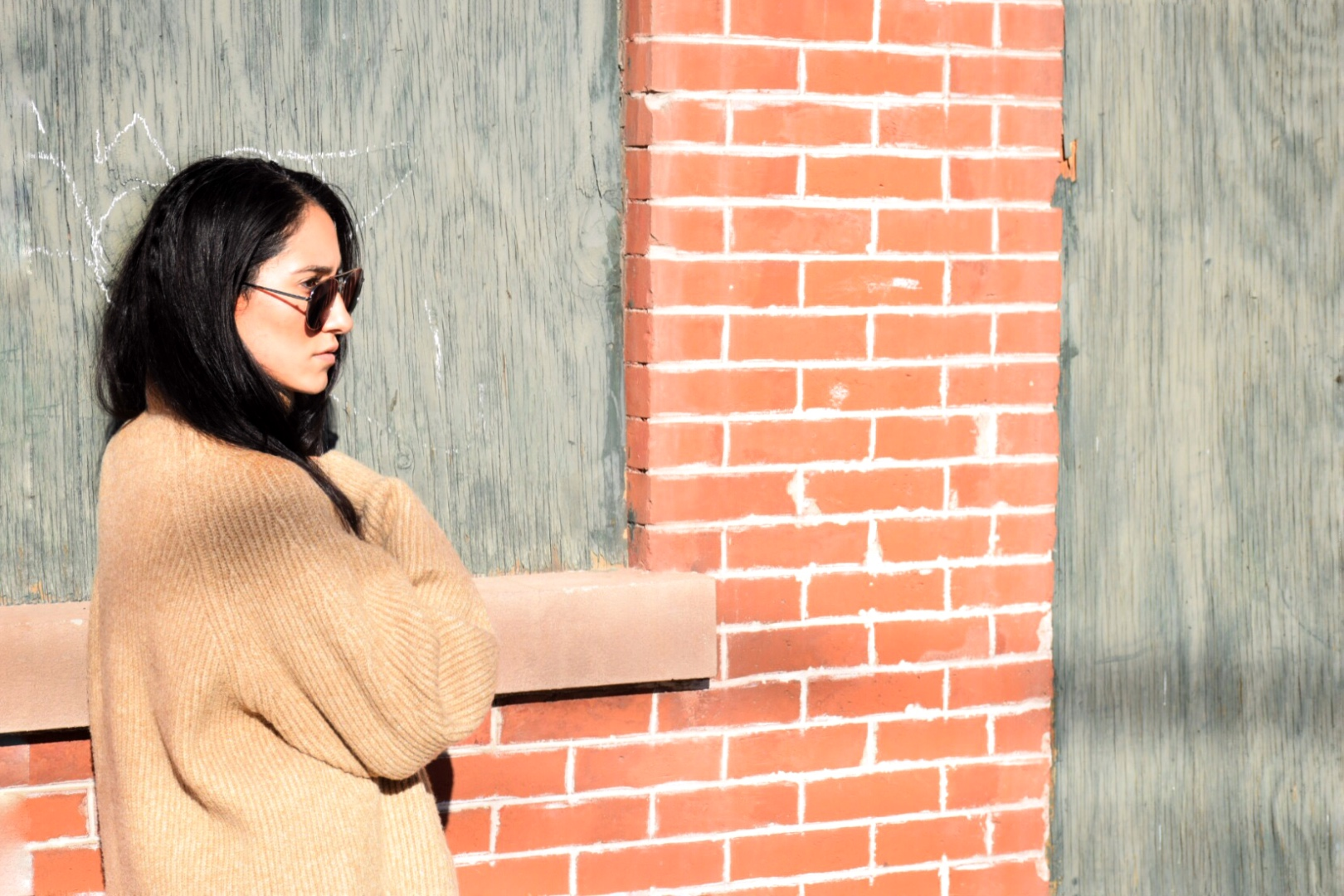 Wearing :H&M  sweater  | Abercrombie jeans | F21 boots