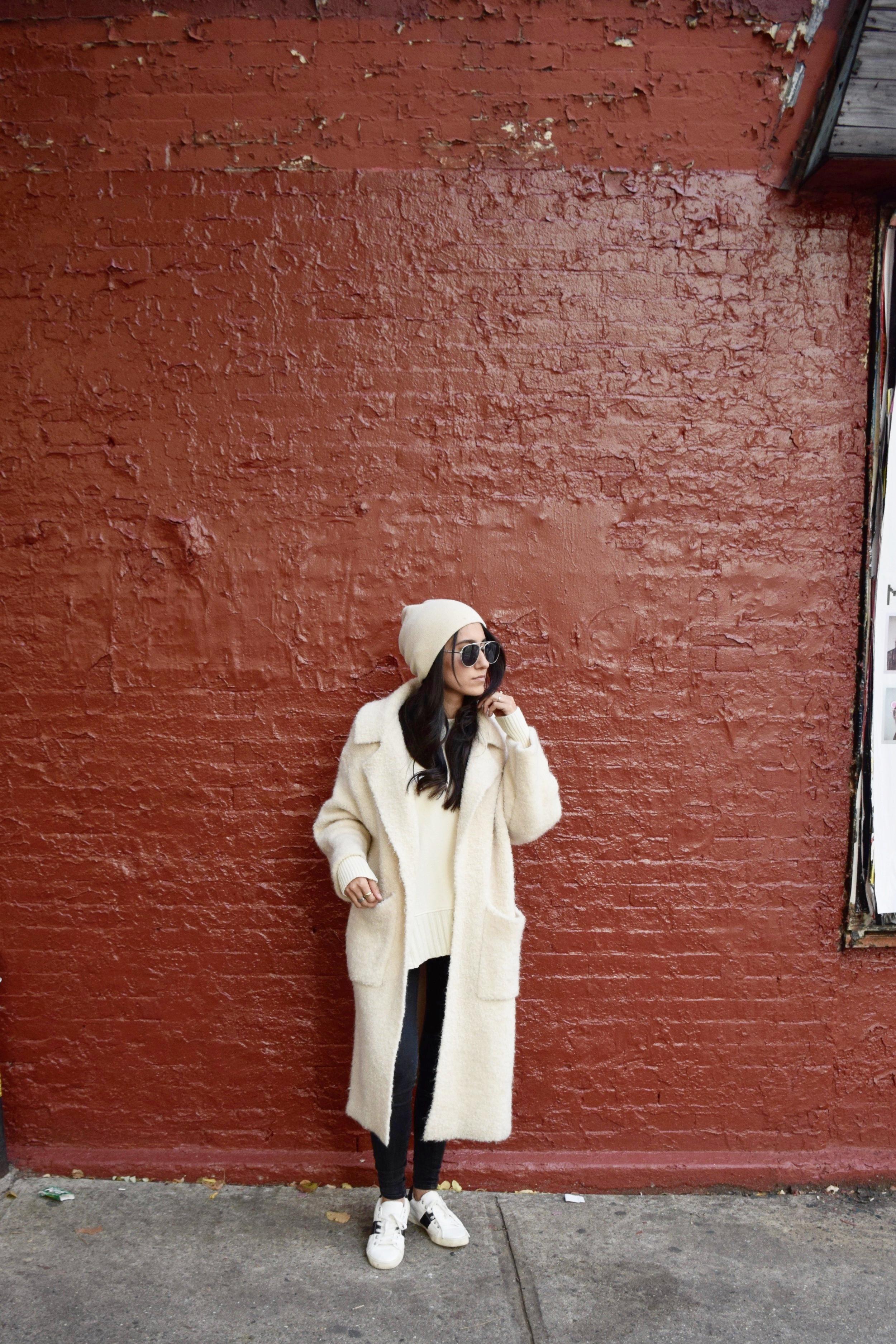 Wearing: All Saints Sweater | Zara Overcoat