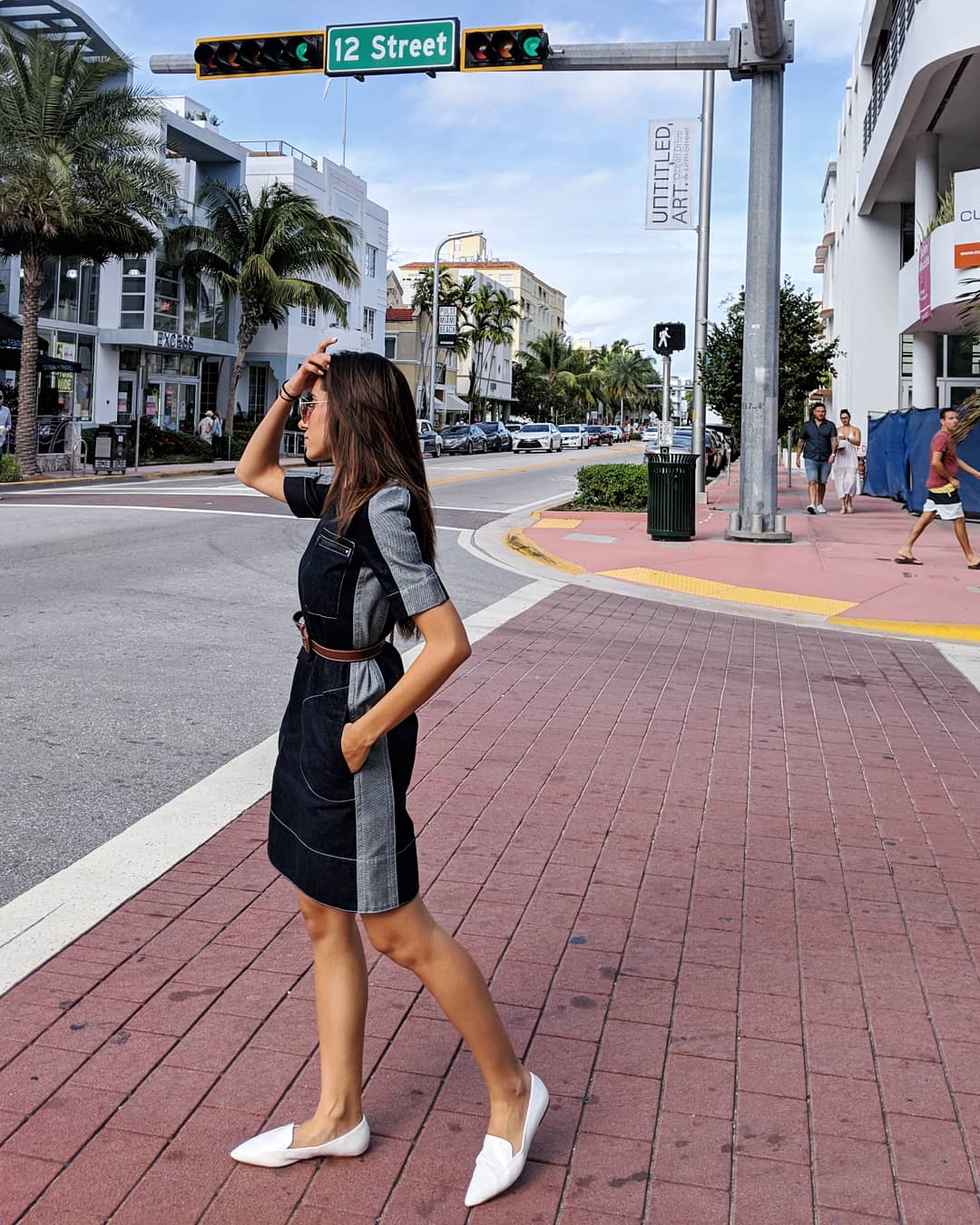 Art Basel , Day 1 —  Wearing:  Marni   Dress    |  Vintage Belt | F21   Shoes