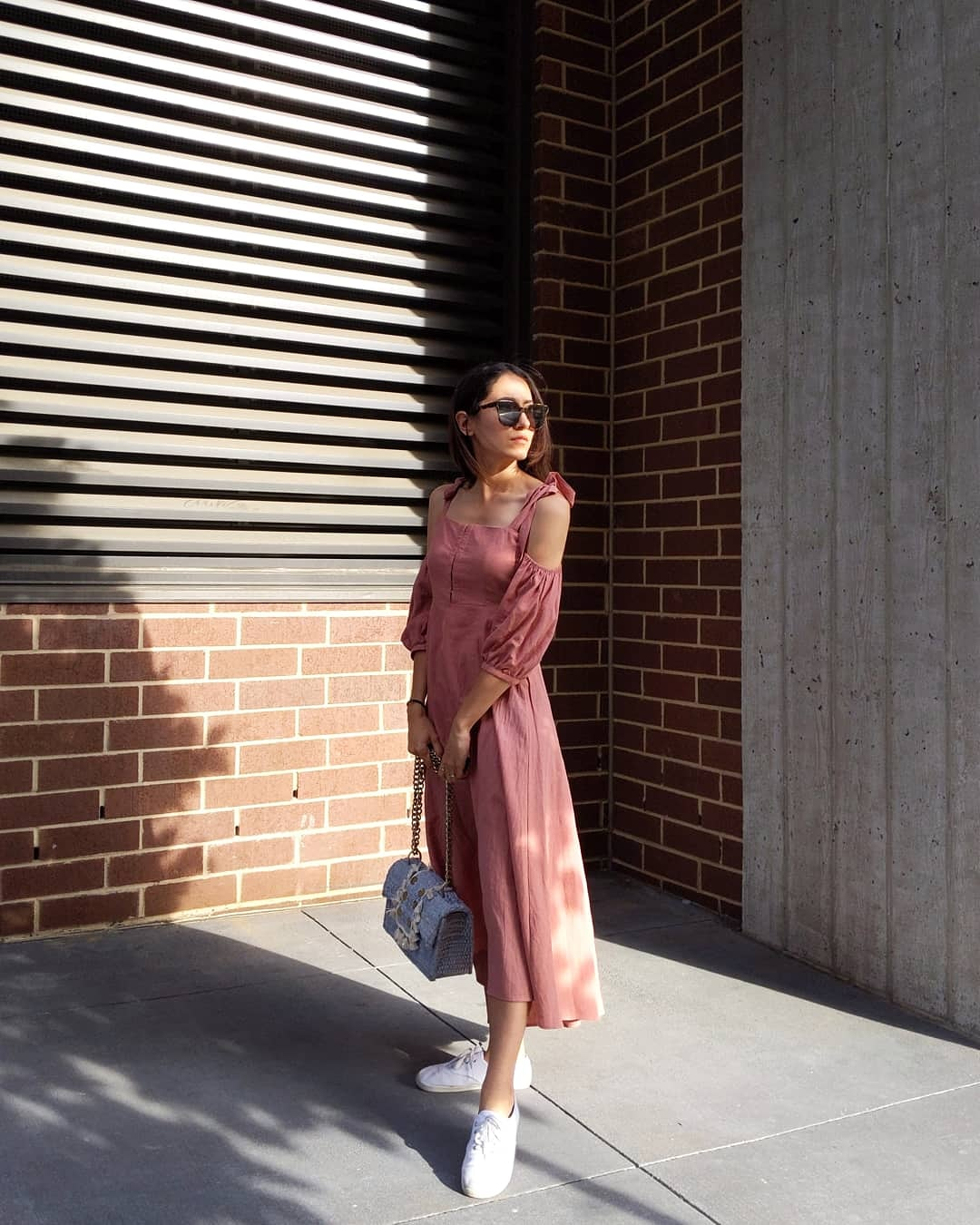Wearing: Capulet dress | Kooreloo  bag  | Walmart shoes