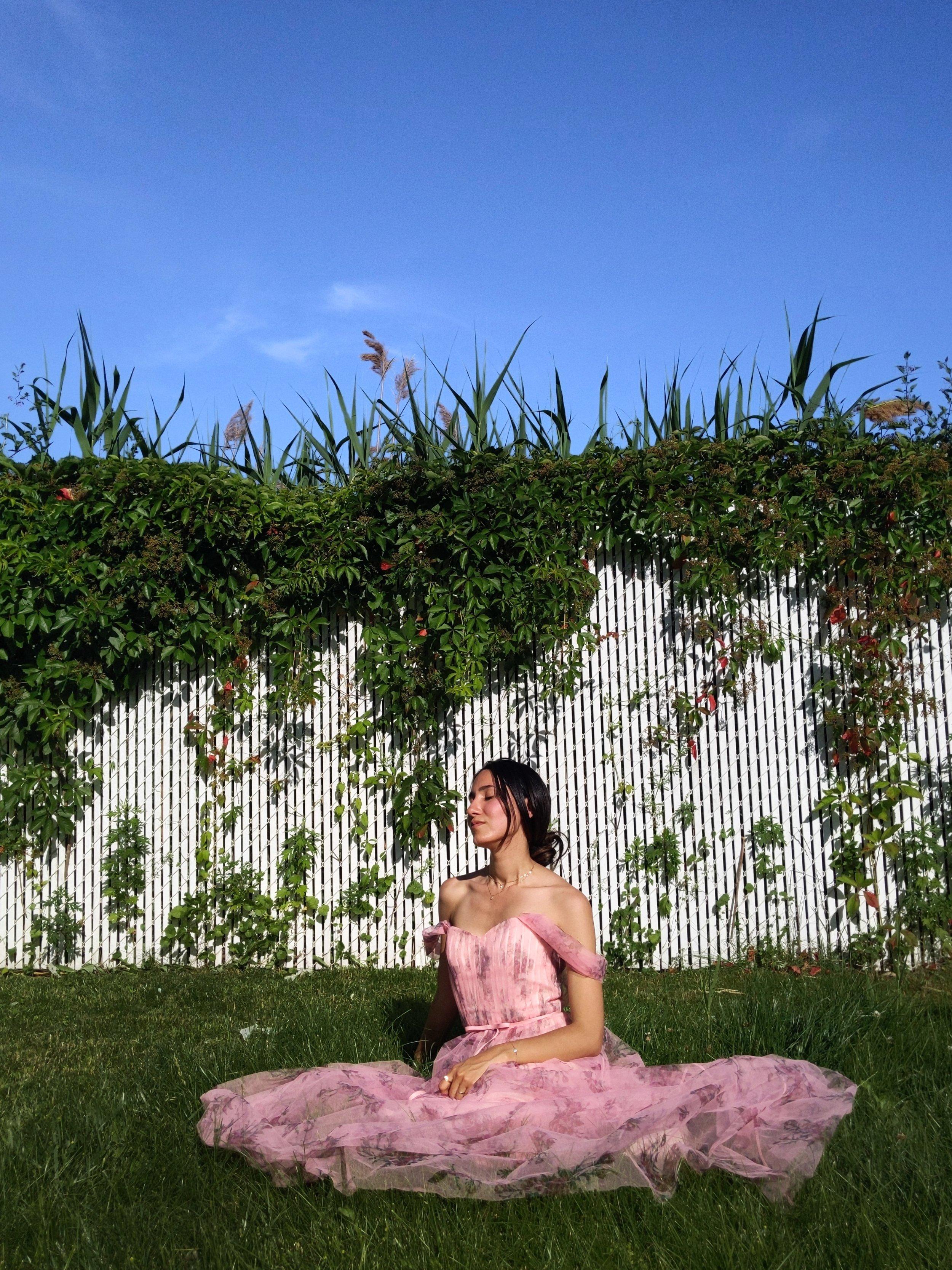 Wearing: Marchesa Notte  dress