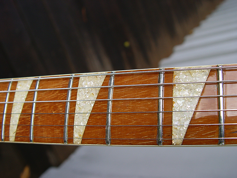 LOVELY RESTORED FRETBOARD WITH CRUSHED MOTHER-OF-PEARL MARKERS