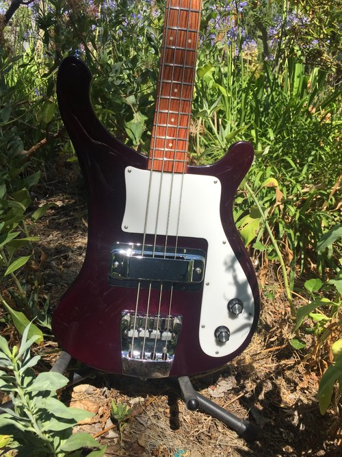 4000 BASS RESTORED IN BURGUNDYGLO FINISH