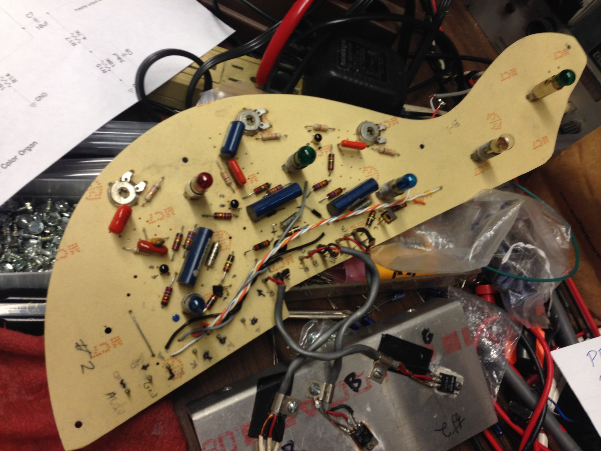 ORIGINAL LIGHT SHOW BOARDS ARE VERY FRAGILE, WITH THIN TRACES