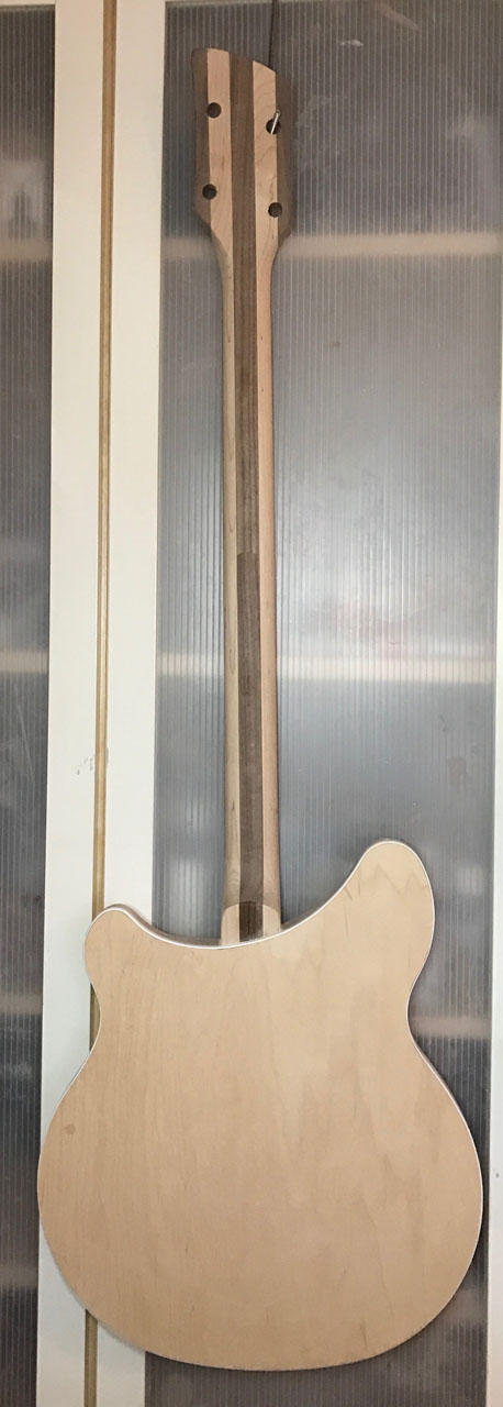 CUSTOM-BUILT NECK WAS INSTALLED TO 360 BODY