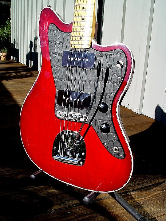 HANDBUILT AND BOUND FENDER JAZZMASTER WITH CROCODILE PICKGUARD