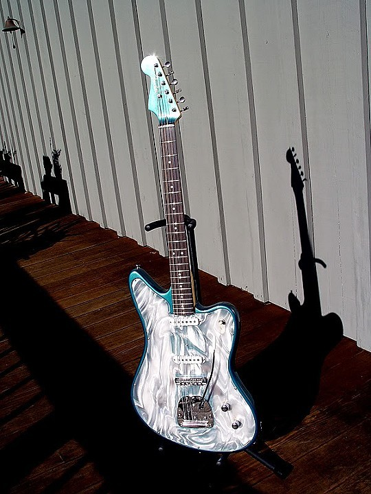 "FRONT VIEW OF ""THE SURF LEAD GUITAR WITH AN EDGE"""