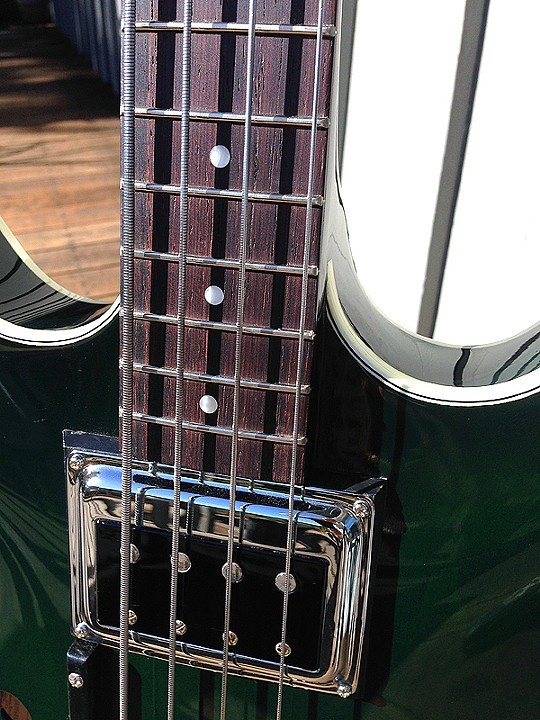 "REFRETTED, WITH ALL HARDWARE RECHROMED, BASS APPEARS ""AS NEW"""