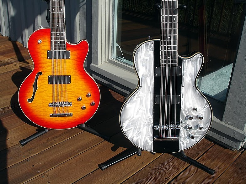 THE LIGHT SHOW BASS, NEXT TO A STANDARD-ISSUE TP-12