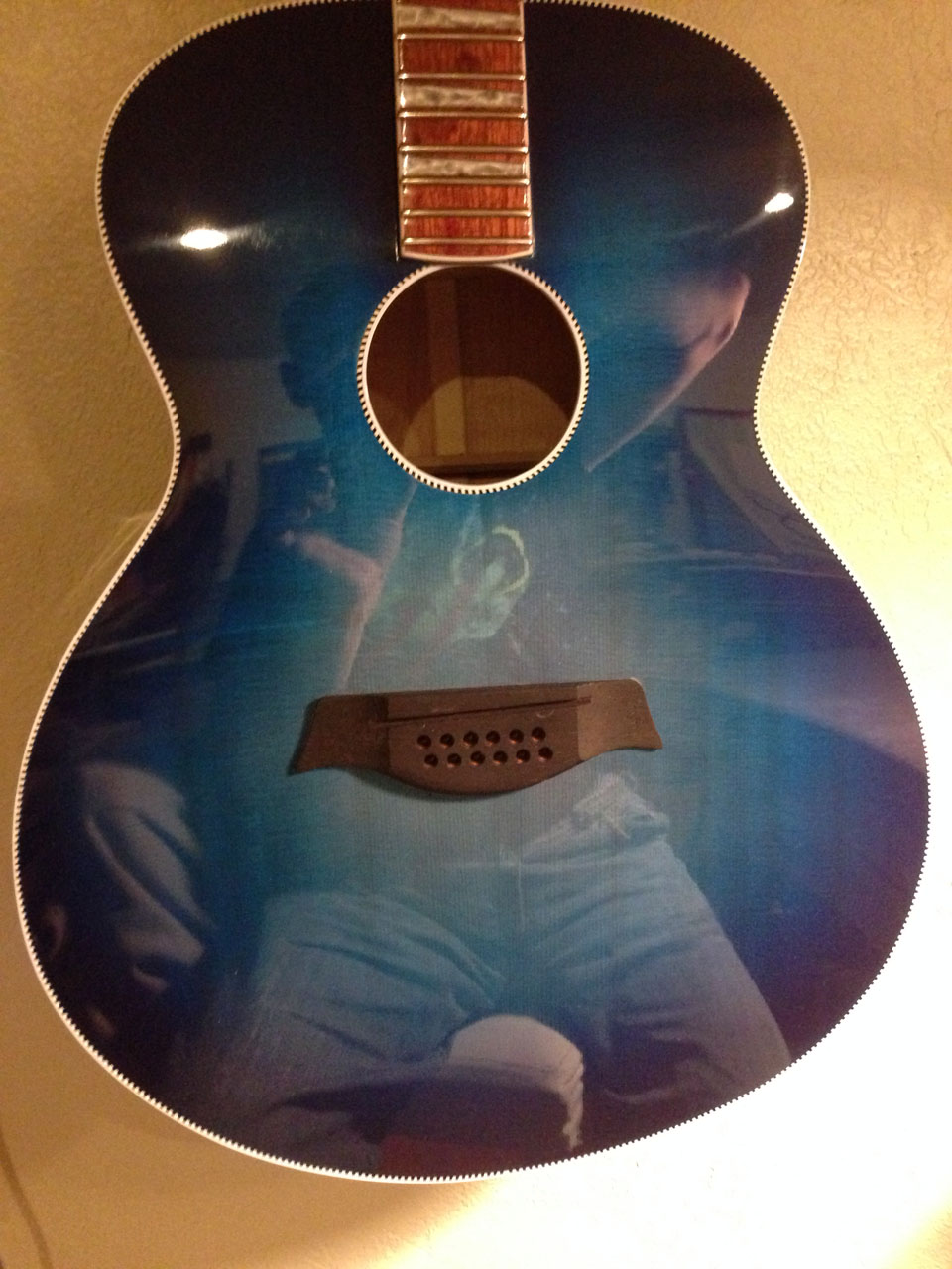 """VERY REFLECTIVE FINALLY-BUFFED SURFACE OF 700C IN """"BLUEBURST"""" FINISH."""