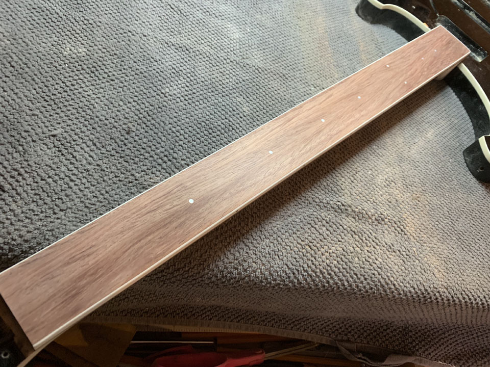 ELEGANT NEW FRETBOARD BEFORE VARNISHING