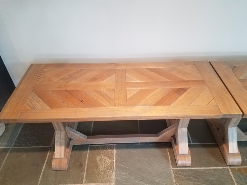 White oak catering table