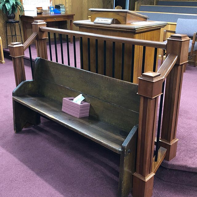 New banister in my home church Highland View. #bsquareddesignwoodproducts #b2designwp #custommade #sapelewood #helptheelderly #highlandviewbaptistchurch