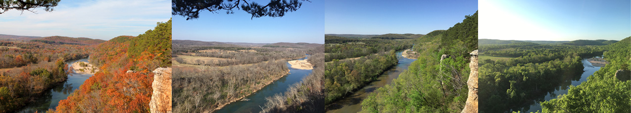 Illinois River Seasonal View from Sparrow Hawk Mountain , Photos by Will Chavez
