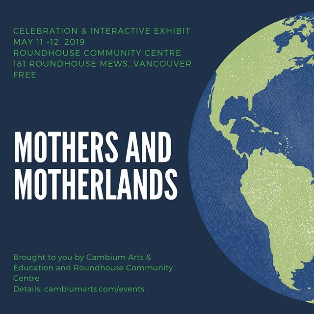 This weekend!   Details: link in bio  This Mother's Day we invite you to join us in a free, all ages, intergenerational celebration and exploration of Motherhood.   Mothers and mothering are honoured in richly varied ways in many cultures and communities. There are many different definitions of Mother.   How do Mothers see themselves? What are our connections to our Mothers, our Grandmothers, to the matriarchs who mother us and our communities in so many beautiful ways?   How do our matrilineal ancestries and connections to motherlands shape us? How do we explore the many meanings of mothering in relation to ourselves and the land we are currently on?  Bring your mother, your grandmother, your matriarchs, and the people you consider mother figures in your life, as well as children of all ages!  Join us for this celebration of maternal histories, creative expression through poetry, visual art, and intergenerational storytelling. 
