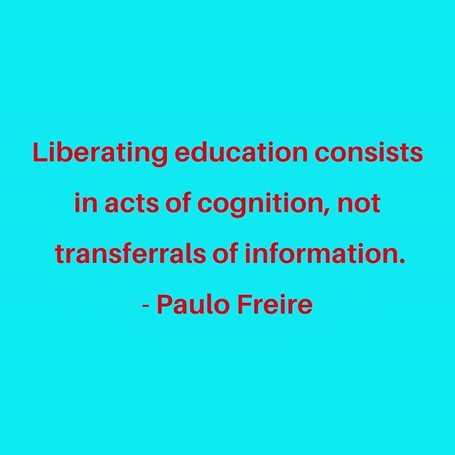 The difference between education that seeks to transform instead of just inform.