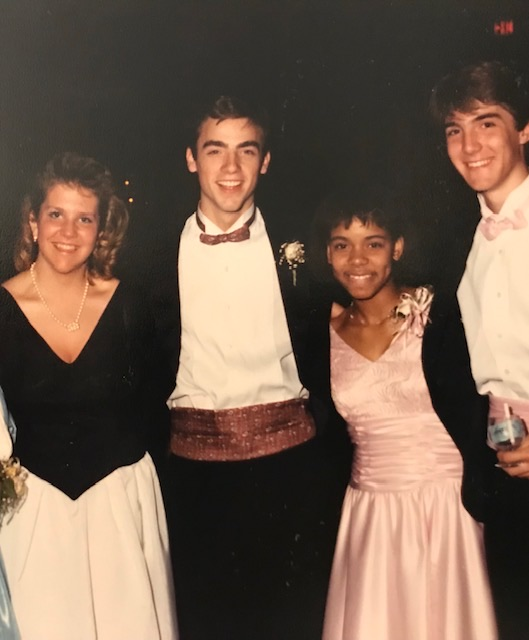 Mark with his prom date, Joyce DiDonato
