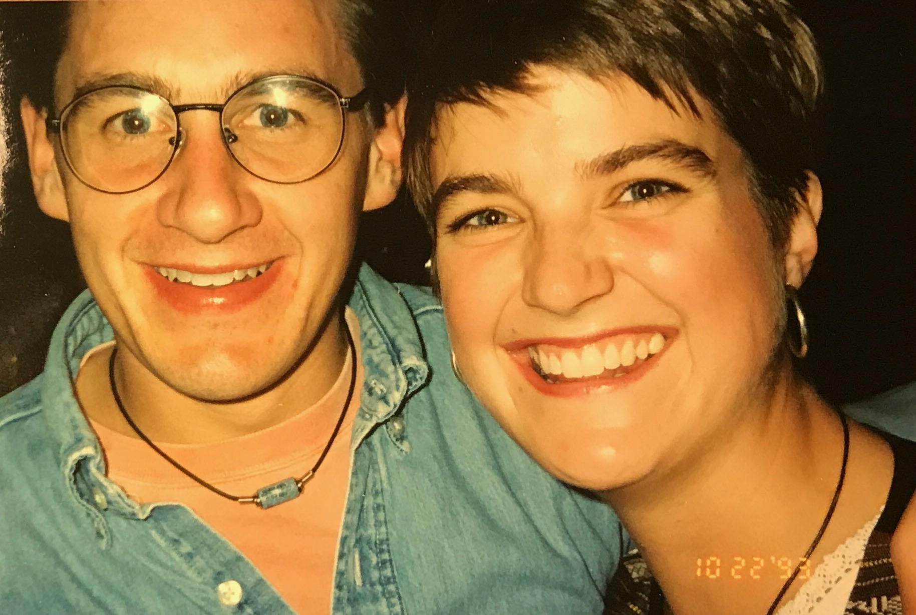 I'm not quite sure… but I think this was taken before a Gear Daddies Concert! We connected over music nearly 30 years ago.