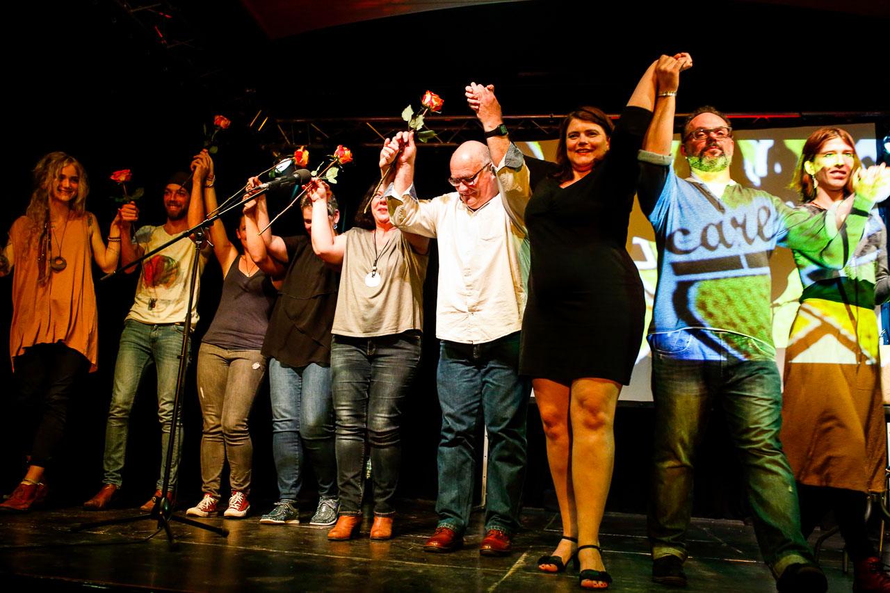 Gruppenbild am Ende des achten CareSlams