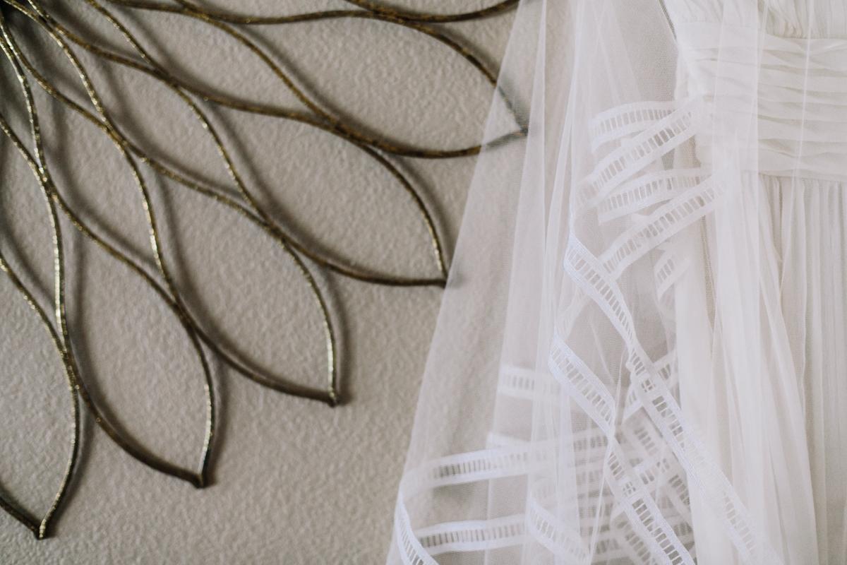 DIY Veil tea dyed by Bride