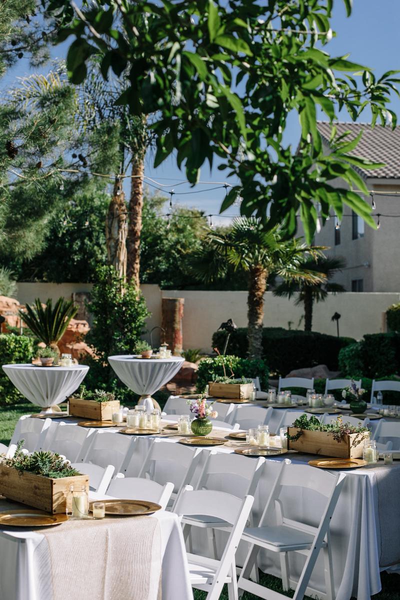 Destination Backyard Wedding
