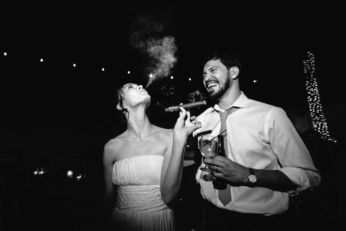 Creative Couple share Cigar Moment