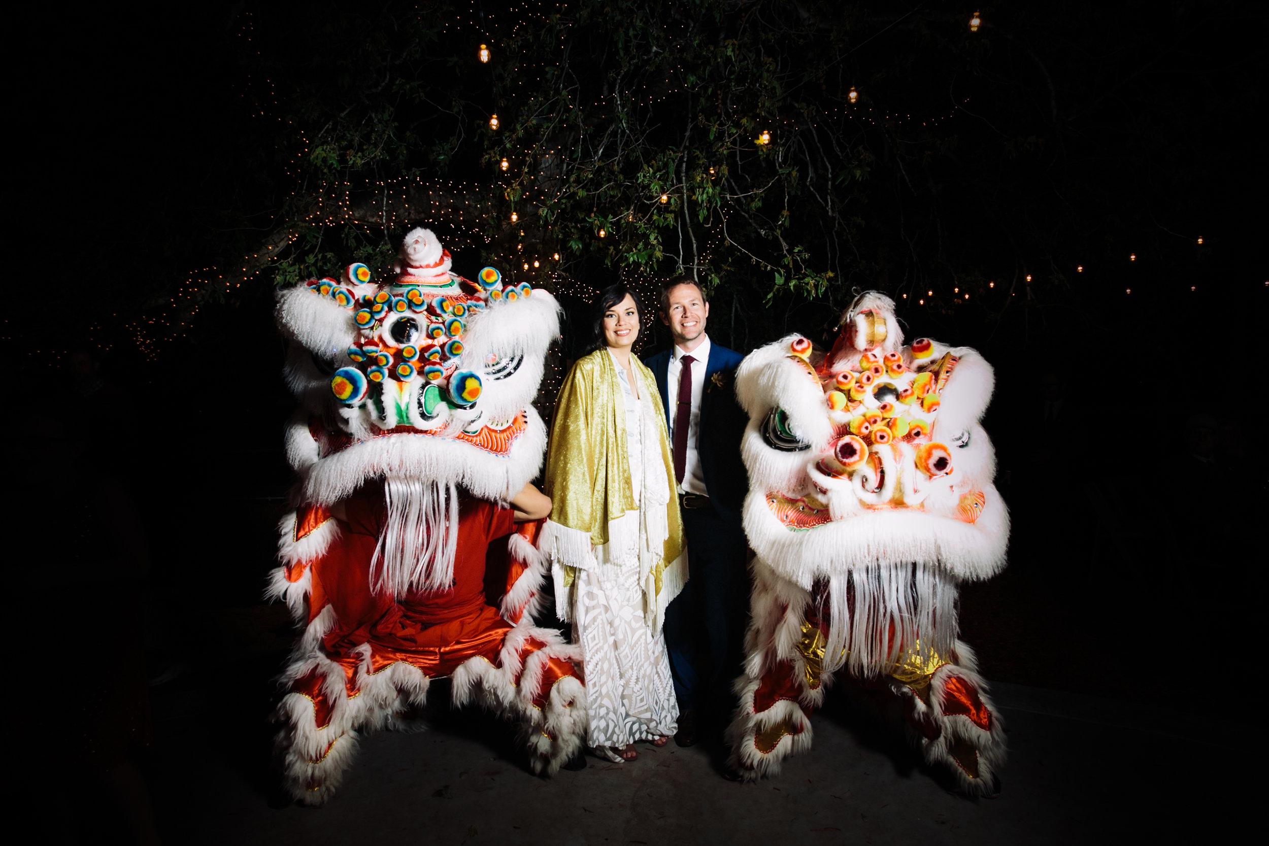 Reptacular Ranch Reception Lion Dancers