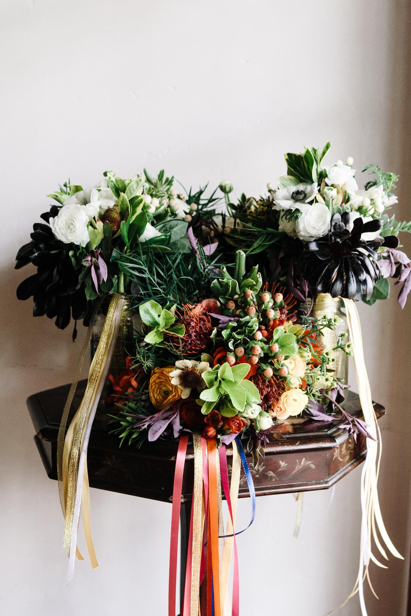 Jewel Toned florals