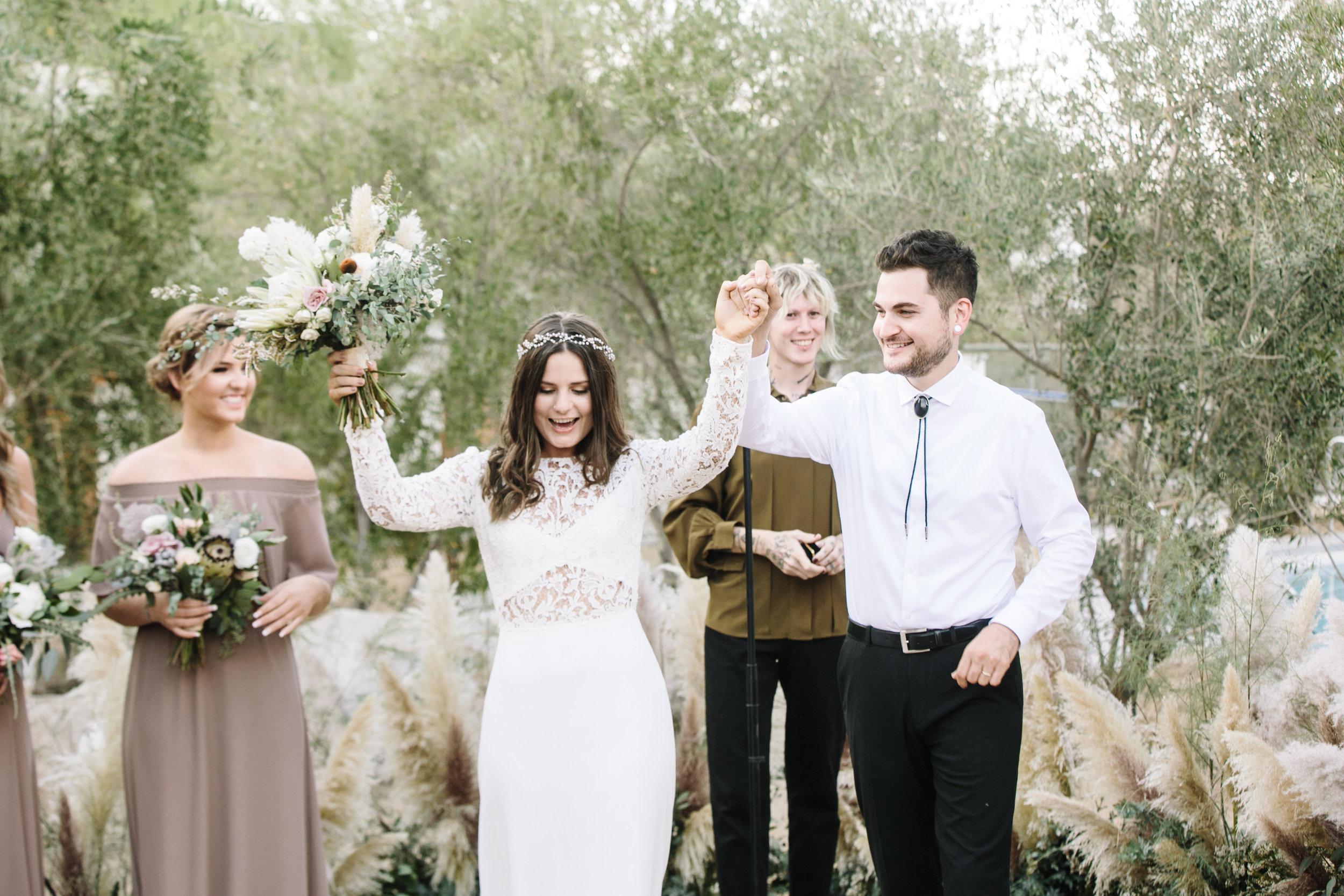 Ace Hotel Palm Springs Wedding Couple Says I DO