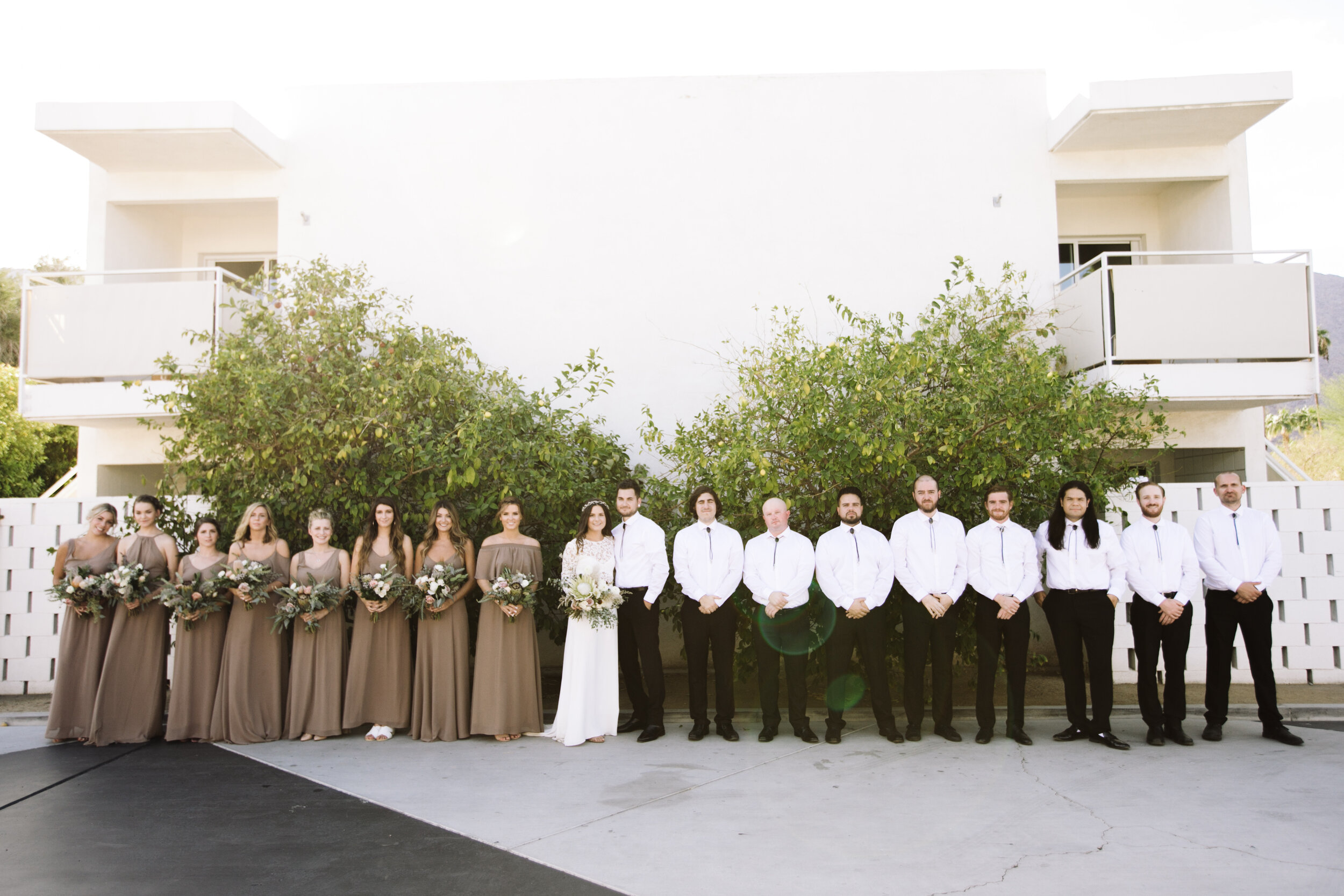 Wedding party at Ace Hotel Palm Springs
