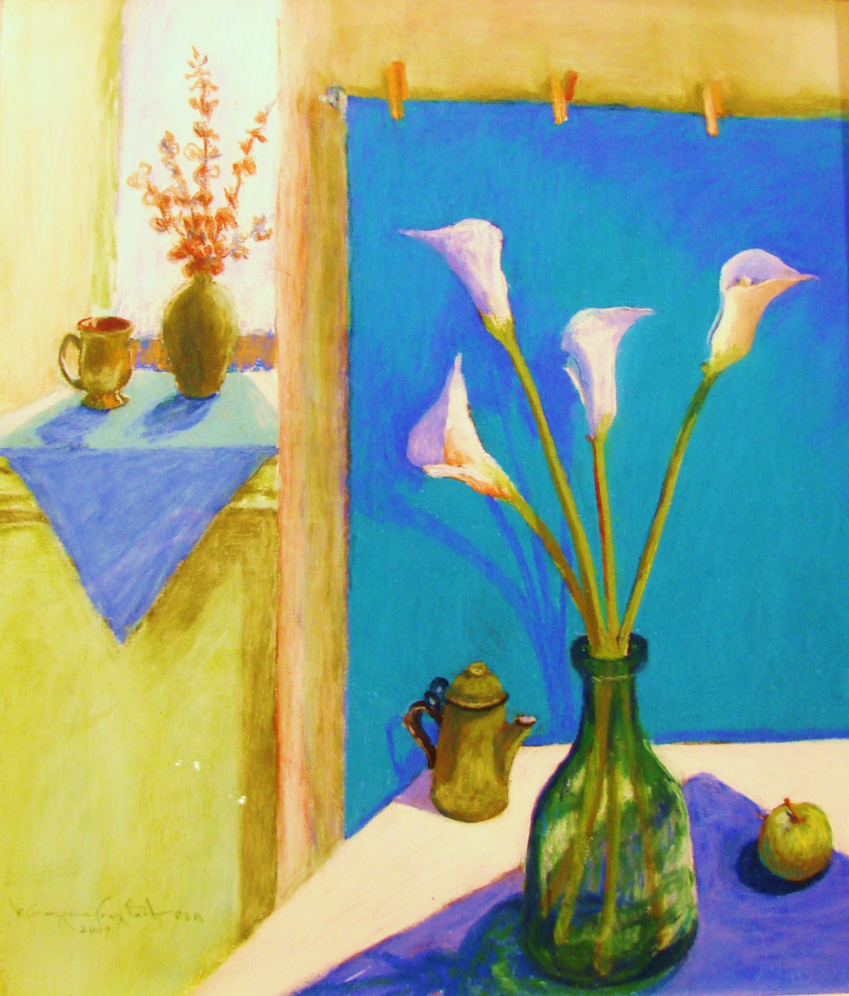 STILL LIFE WITH CALLA LILIES
