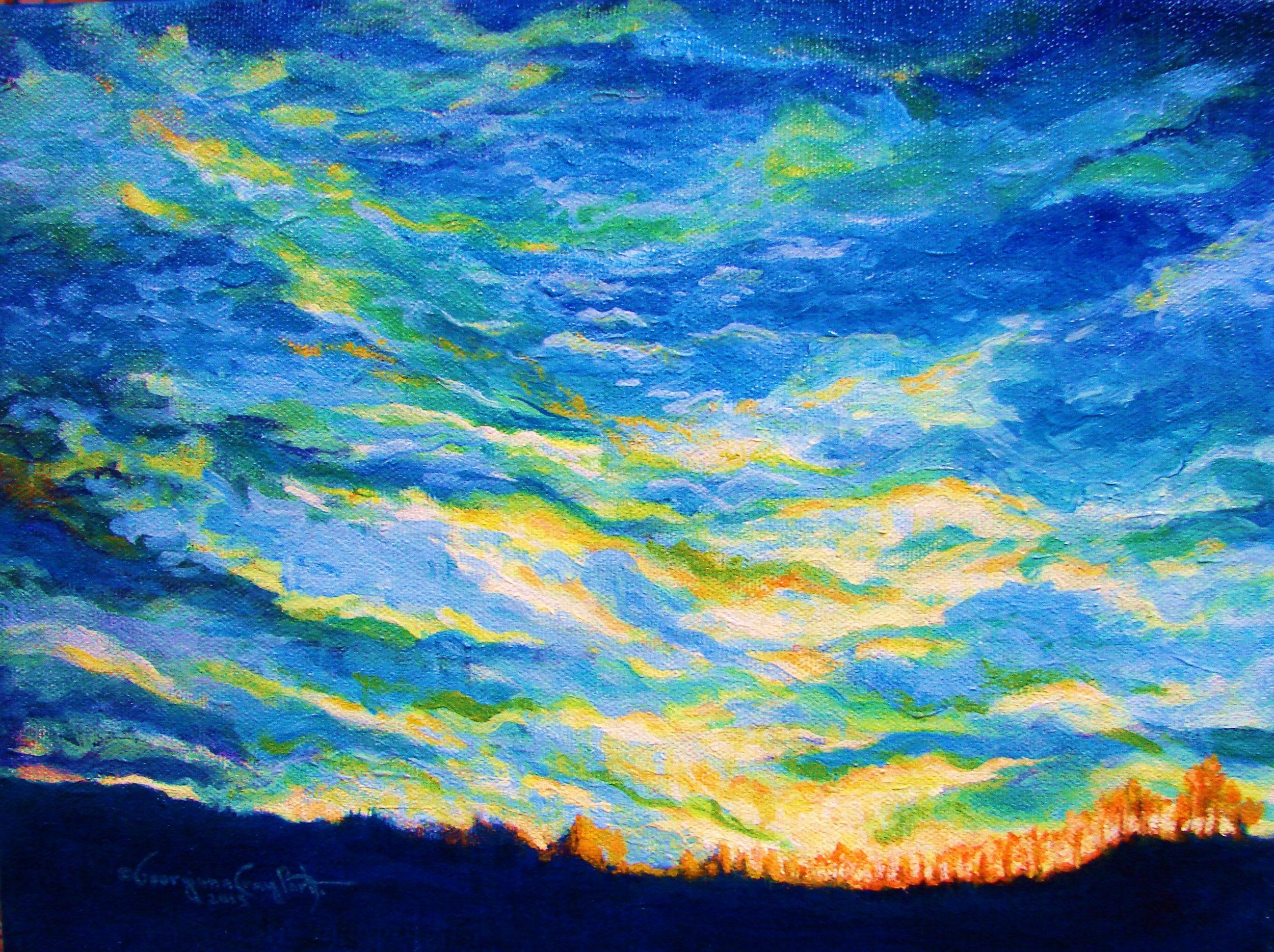 WINTER SKY #1 . ACRYLIC . 2015