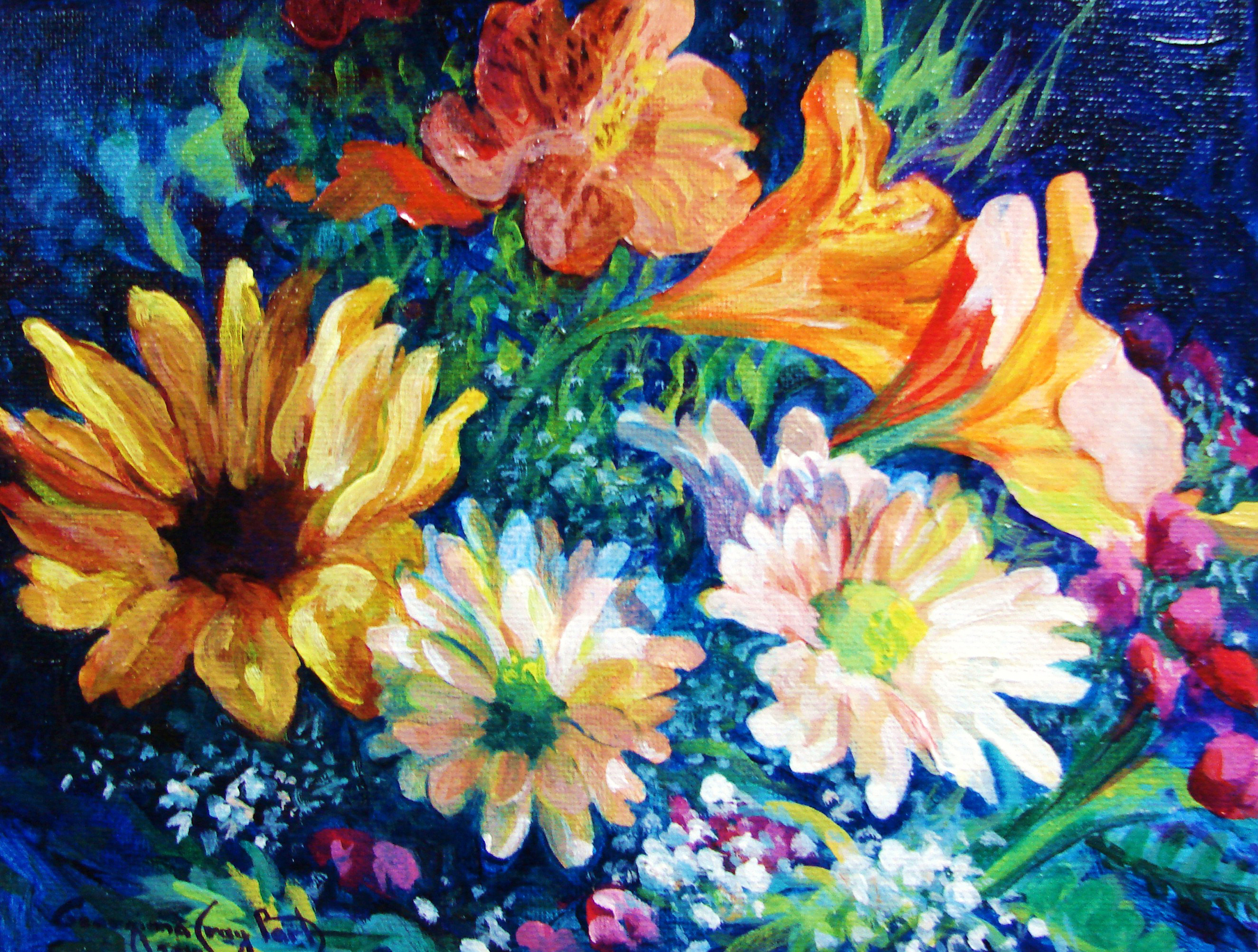Mothers Day Flowers #13_Acrylic_8 x 10 x 2_ $375_jpg..jpg