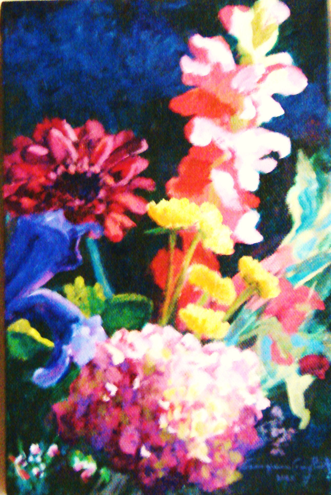 MOTHER'S DAY FLOWERS #4 ACRYLIC ON CANVAS 9X6.JPG