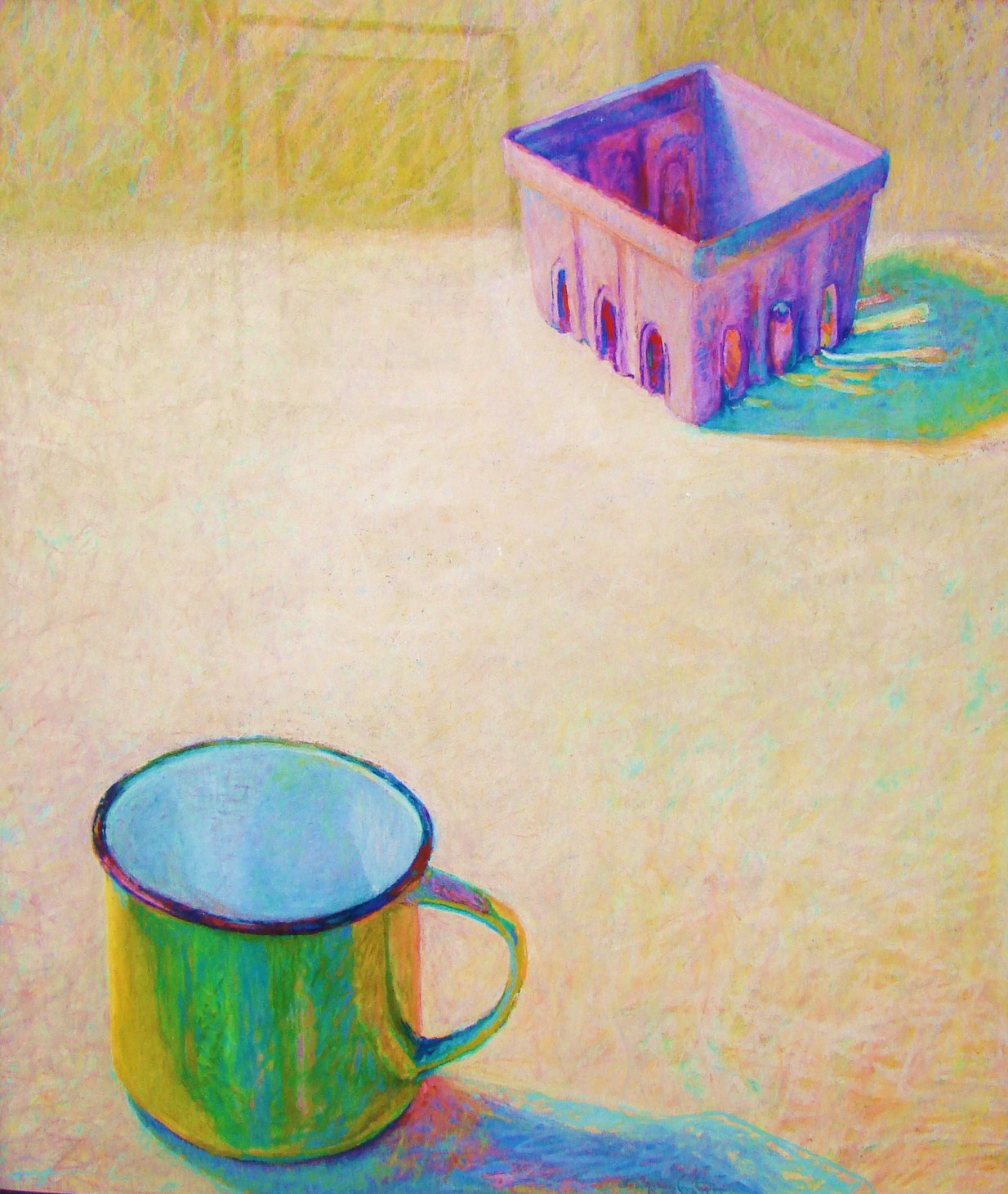 YELLOW MUG WITH PURPLE BERRY BOX PASTEL 29X 18.JPG