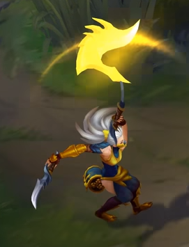 Stinger Akali's Kama has 3 sharp claws that help her brutally assassinate and tear her enemies apart.