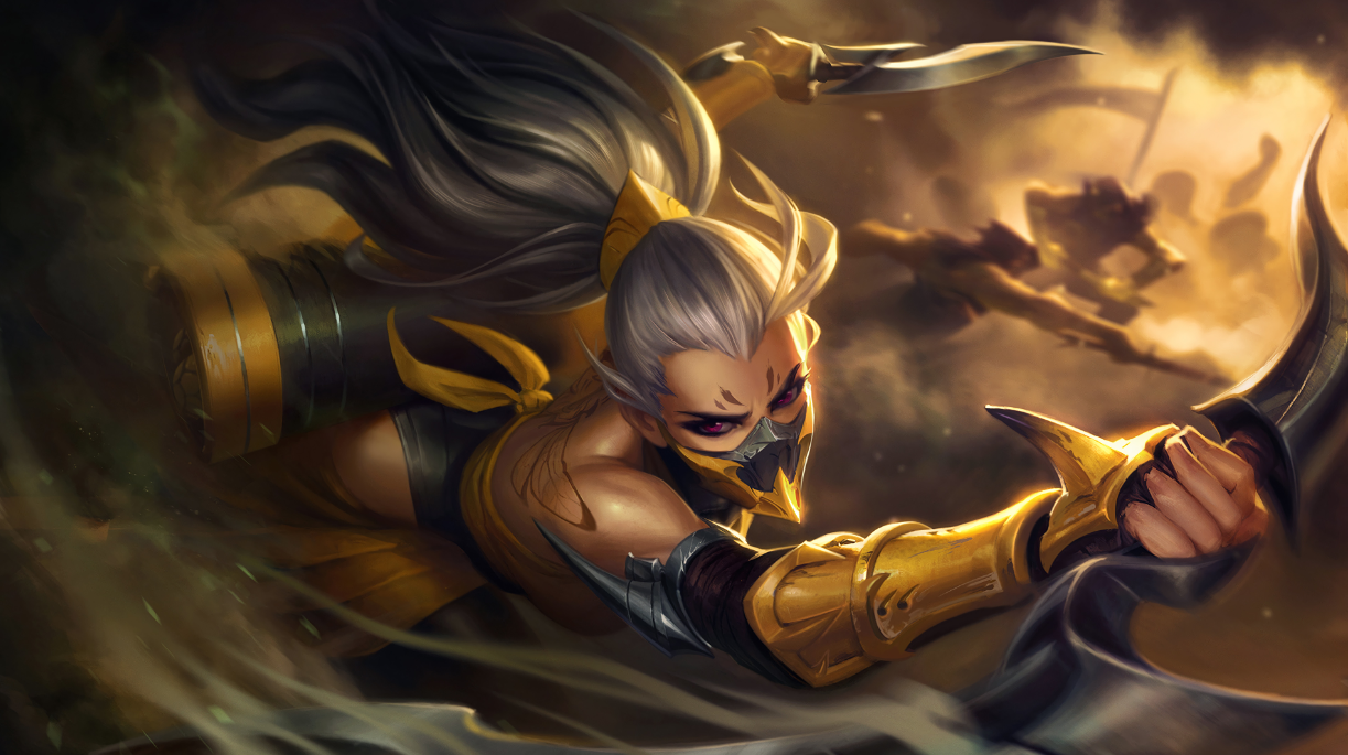Fantastic artists at Riot really do an amazing job at inspiring new sounds. Just from this image, I can get insight on what aspects of Akali I want to focus on.
