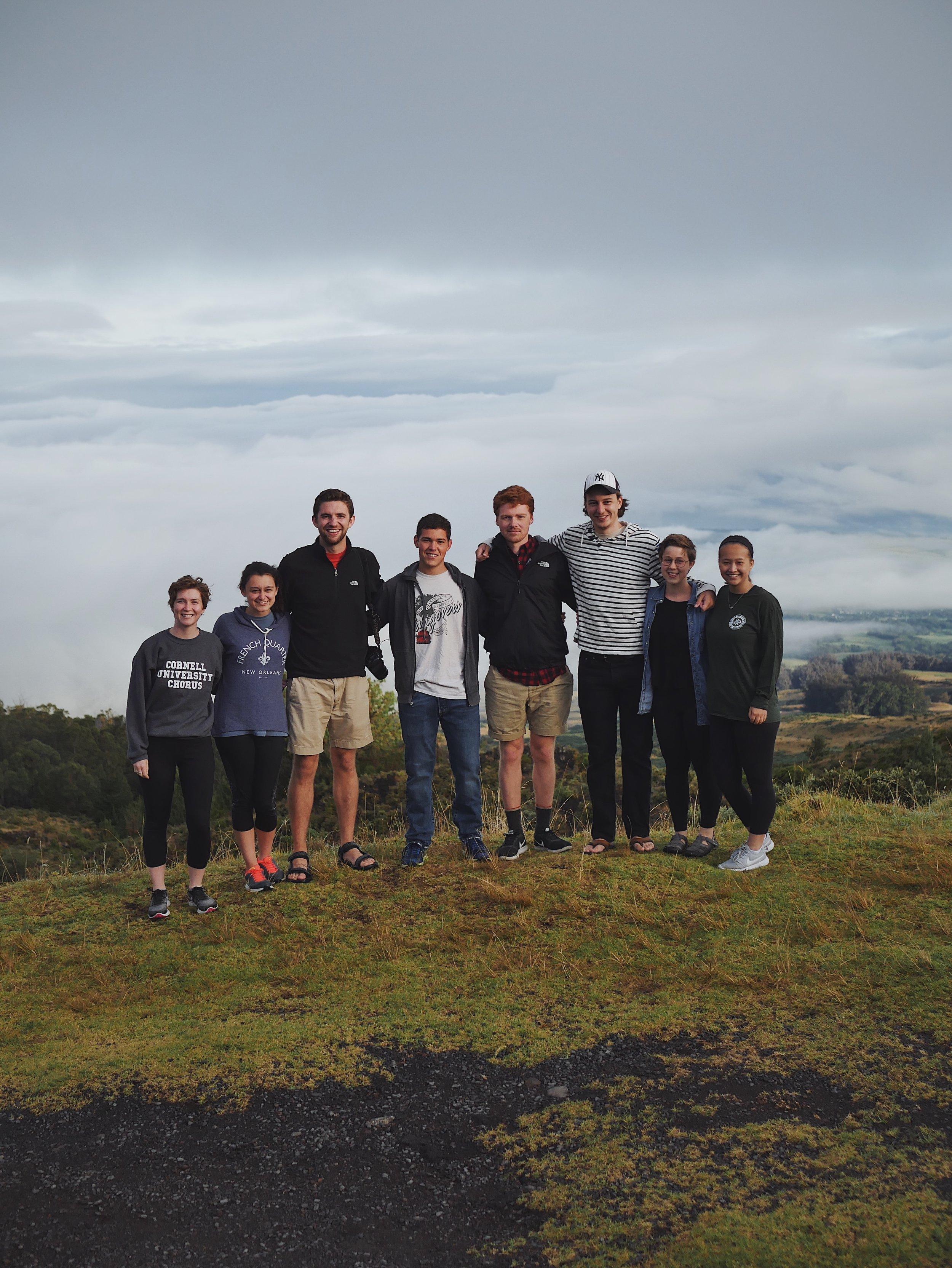 Chamber Singers pose in Haleakalā National Park