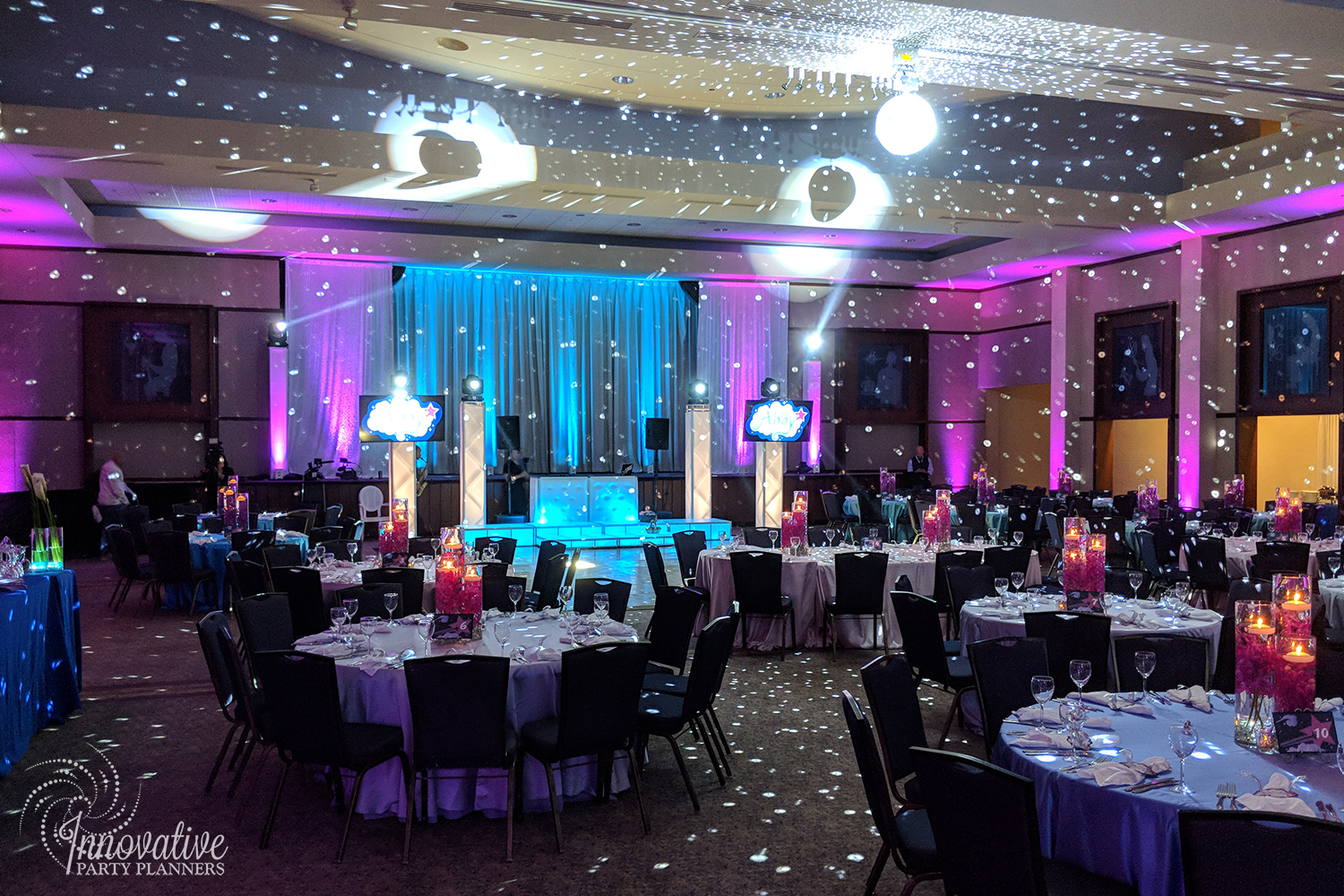 "Abby's Starry Night | ""Make A Wish"" Ballroom by Innovative Party Planners"