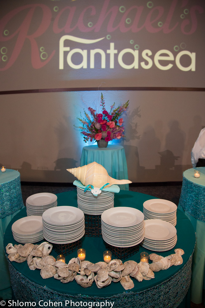 The central buffet table featured our custom made oyster runner