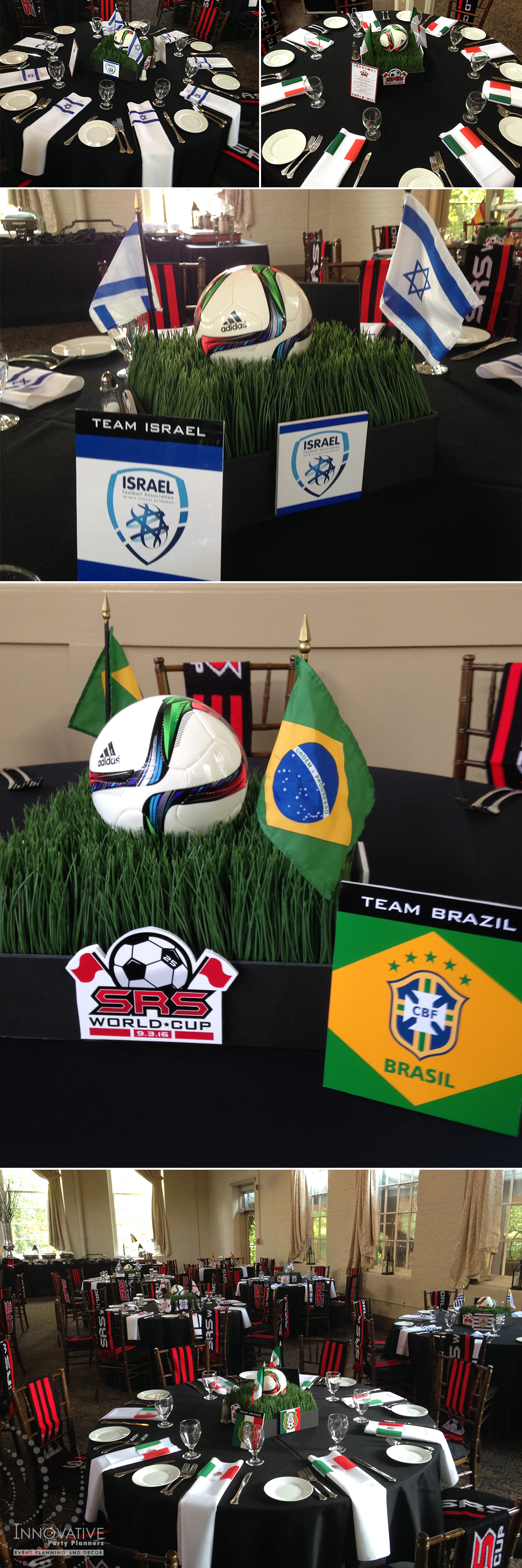 World Cup soccer table centerpieces