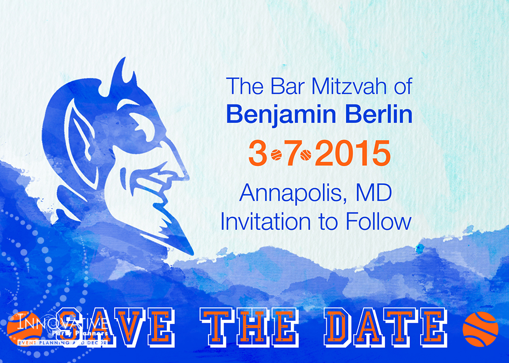 Save the Date designed by Innovative Party Planners