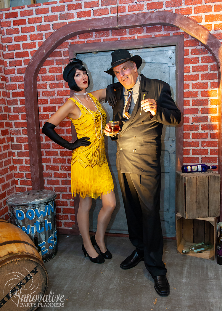 Fairwell to the Roaring Twenties | Flappers and Gangster Actors by Innovative Party Planners
