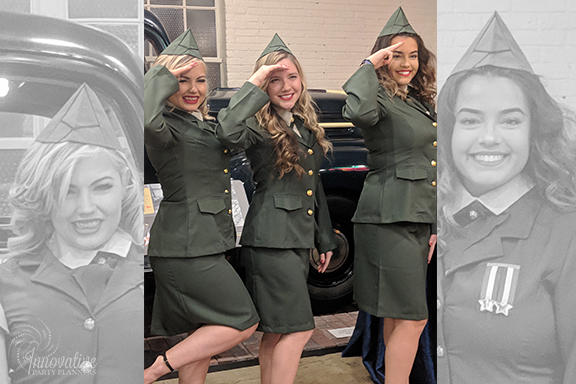 Roaming Actors_Anderson Sisters_1940s Themed Decor_InnovativePartyPlanners2018.jpg