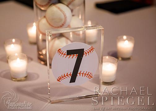 Bar Mitzvah Camden Yards_2-16-19_Table Number Baseball _Acrylic Frame.jpg
